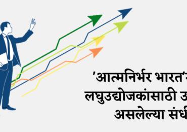 'आत्मनिर्भर भारत'मध्ये लघुउद्योजकांसाठी उपयुक्त असलेल्या संधी